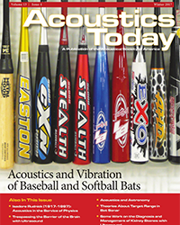Acoustics and Vibration of Baseball and Softball Bats – Daniel A. Russell